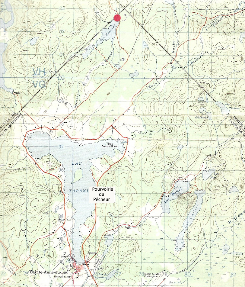 Quebec Topographic Map.Fisherman S Outfitter The Ideal Place For A Vacation At Affordable